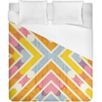 Line Pattern Cross Print Repeat Duvet Cover (California King Size)