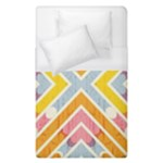 Line Pattern Cross Print Repeat Duvet Cover (Single Size)