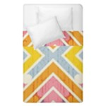 Line Pattern Cross Print Repeat Duvet Cover Double Side (Single Size)