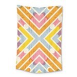 Line Pattern Cross Print Repeat Small Tapestry