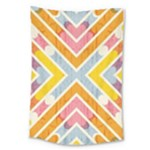 Line Pattern Cross Print Repeat Large Tapestry