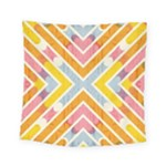 Line Pattern Cross Print Repeat Square Tapestry (Small)