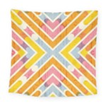 Line Pattern Cross Print Repeat Square Tapestry (Large)