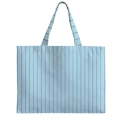 Stripes Striped Turquoise Zipper Mini Tote Bag by Amaryn4rt