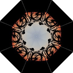 Bicycles Wheel Sunset Love Romance Golf Umbrellas by Amaryn4rt