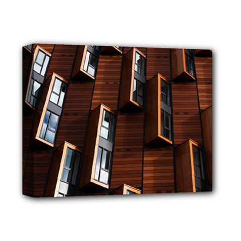 Abstract Architecture Building Business Deluxe Canvas 14  X 11  by Amaryn4rt