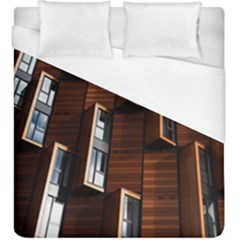 Abstract Architecture Building Business Duvet Cover (King Size) by Amaryn4rt