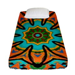 Color Abstract Pattern Structure Fitted Sheet (single Size) by Amaryn4rt