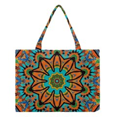 Color Abstract Pattern Structure Medium Tote Bag