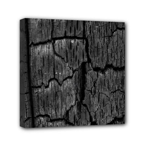 Coal Charred Tree Pore Black Mini Canvas 6  X 6  by Amaryn4rt
