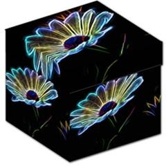 Flower Pattern Design Abstract Background Storage Stool 12