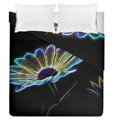 Flower Pattern Design Abstract Background Duvet Cover Double Side (queen Size)