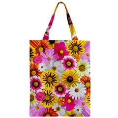 Flowers Blossom Bloom Nature Plant Zipper Classic Tote Bag by Amaryn4rt