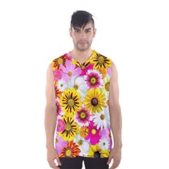 Flowers Blossom Bloom Nature Plant Men s Basketball Tank Top