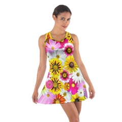 Flowers Blossom Bloom Nature Plant Cotton Racerback Dress