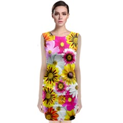 Flowers Blossom Bloom Nature Plant Classic Sleeveless Midi Dress by Amaryn4rt