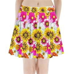 Flowers Blossom Bloom Nature Plant Pleated Mini Skirt by Amaryn4rt