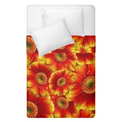 Gerbera Flowers Blossom Bloom Duvet Cover Double Side (single Size) by Amaryn4rt