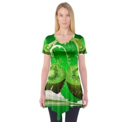Kiwi Fruit Vitamins Healthy Cut Short Sleeve Tunic