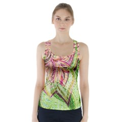 Colorful Design Acrylic Racer Back Sports Top by Amaryn4rt