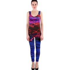 Lights Abstract Curves Long Exposure Onepiece Catsuit by Amaryn4rt
