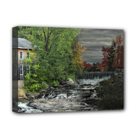 Landscape Summer Fall Colors Mill Deluxe Canvas 16  X 12   by Amaryn4rt