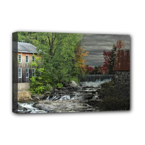 Landscape Summer Fall Colors Mill Deluxe Canvas 18  X 12   by Amaryn4rt