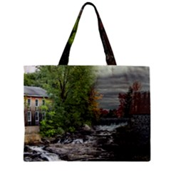 Landscape Summer Fall Colors Mill Zipper Mini Tote Bag