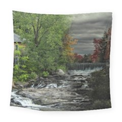 Landscape Summer Fall Colors Mill Square Tapestry (large)