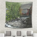Landscape Summer Fall Colors Mill Square Tapestry (Large) View2