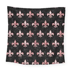 Royal1 Black Marble & Red & White Marble (r) Square Tapestry (large)