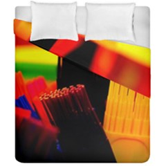 Plastic Brush Color Yellow Red Duvet Cover Double Side (california King Size) by Amaryn4rt