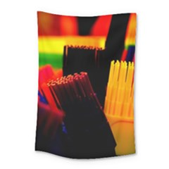 Plastic Brush Color Yellow Red Small Tapestry by Amaryn4rt
