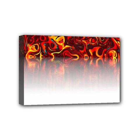 Effect Pattern Brush Red Mini Canvas 6  X 4  by Amaryn4rt