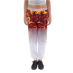 Effect Pattern Brush Red Women s Jogger Sweatpants by Amaryn4rt