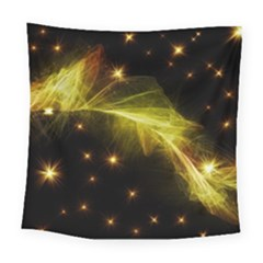 Particles Vibration Line Wave Square Tapestry (large)