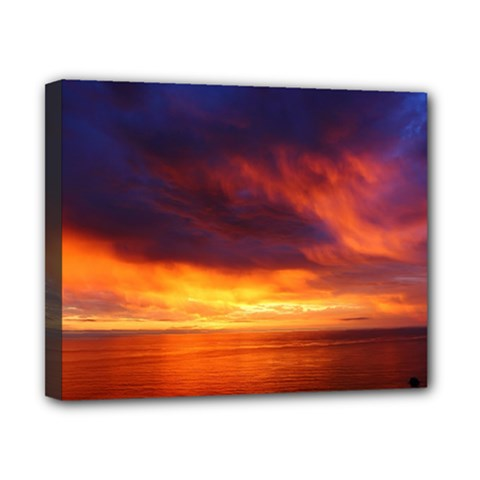 Sunset The Pacific Ocean Evening Canvas 10  X 8