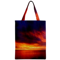 Sunset The Pacific Ocean Evening Zipper Classic Tote Bag by Amaryn4rt
