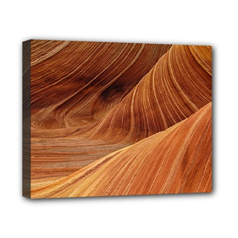 Sandstone The Wave Rock Nature Red Sand Canvas 10  X 8  by Amaryn4rt