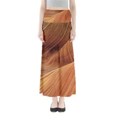 Sandstone The Wave Rock Nature Red Sand Maxi Skirts by Amaryn4rt