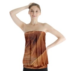 Sandstone The Wave Rock Nature Red Sand Strapless Top by Amaryn4rt