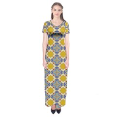 Arabesque Star Short Sleeve Maxi Dress by AnjaniArt
