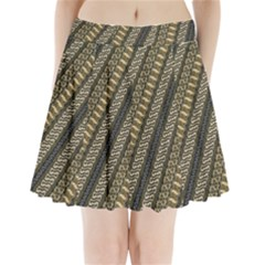 Batik Cap Parang Gendreh Kombinas Pleated Mini Skirt by AnjaniArt