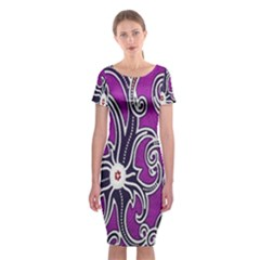 Batik Jogja Classic Short Sleeve Midi Dress by AnjaniArt