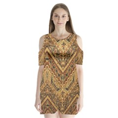 Batik Pekalongan Shoulder Cutout Velvet  One Piece