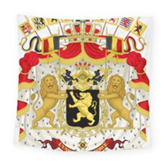 Great Coat Of Arms Of Belgium Square Tapestry (large)