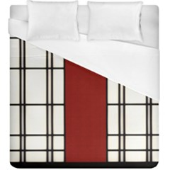 Shoji   Red Duvet Cover (king Size) by Tatami