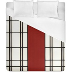 Shoji   Red Duvet Cover (california King Size) by Tatami