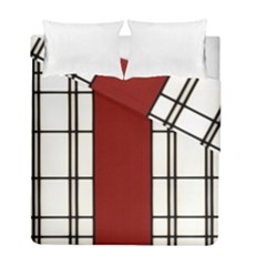 Shoji   Red Duvet Cover Double Side (full/ Double Size) by Tatami