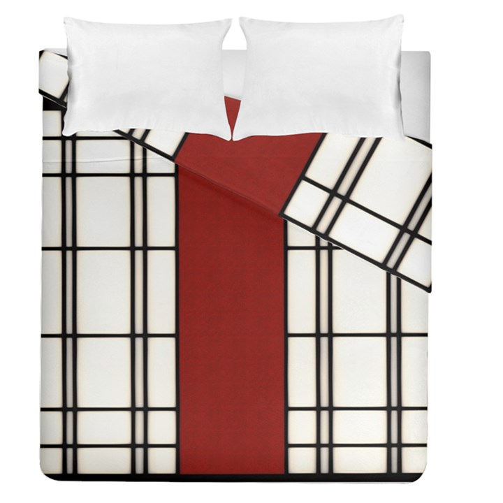 SHOJI - RED Duvet Cover Double Side (Queen Size)